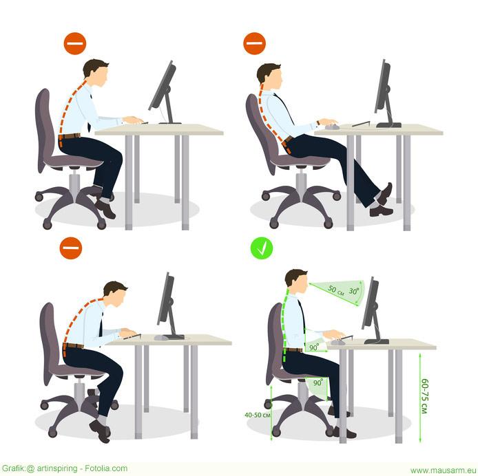 Ein ergonomischer Arbeitsplatz ist essenziell für die Gesundheit