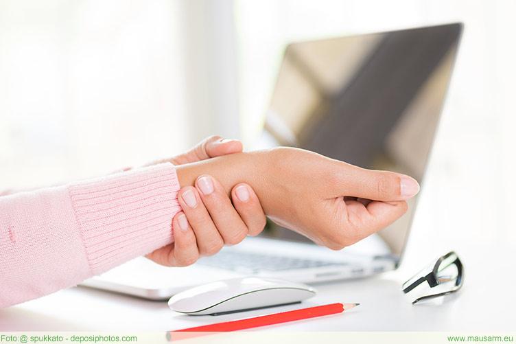 Schmerzen am Arm und Handgelenk werden oft durch einen Mausarm verursacht